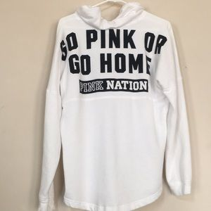 VsPink hooded light weight sweatshirt